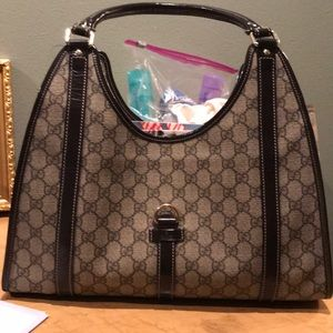 Authentic Gucci hobo Brown Shoulder Bag